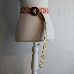 Vera Bradley quilted cloth belt